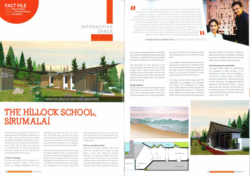 Hillock school designed by inventarchitects